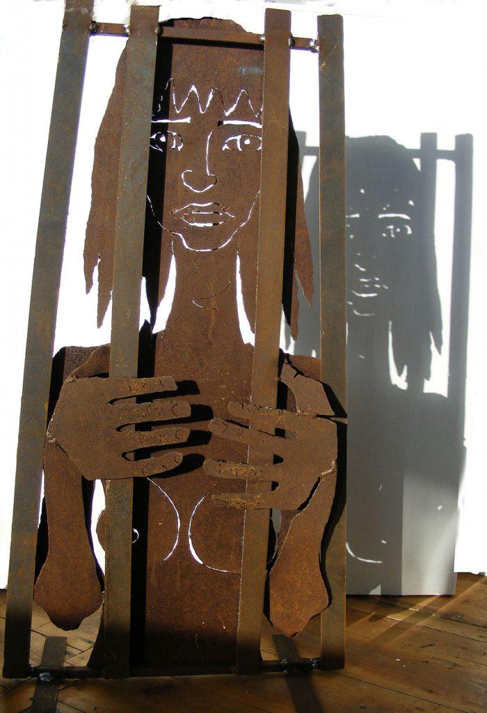Caged2 Sculpture Greta Berlin