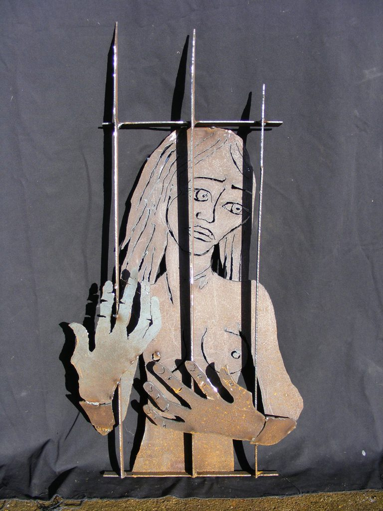 Caged Sculpture Greta Berlin