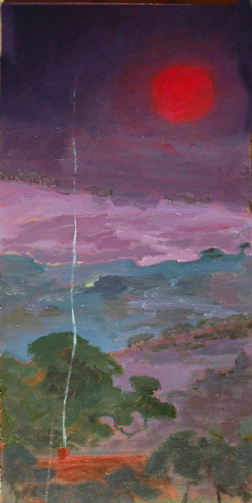 Celtic Sunset Painting by Greta Berlin