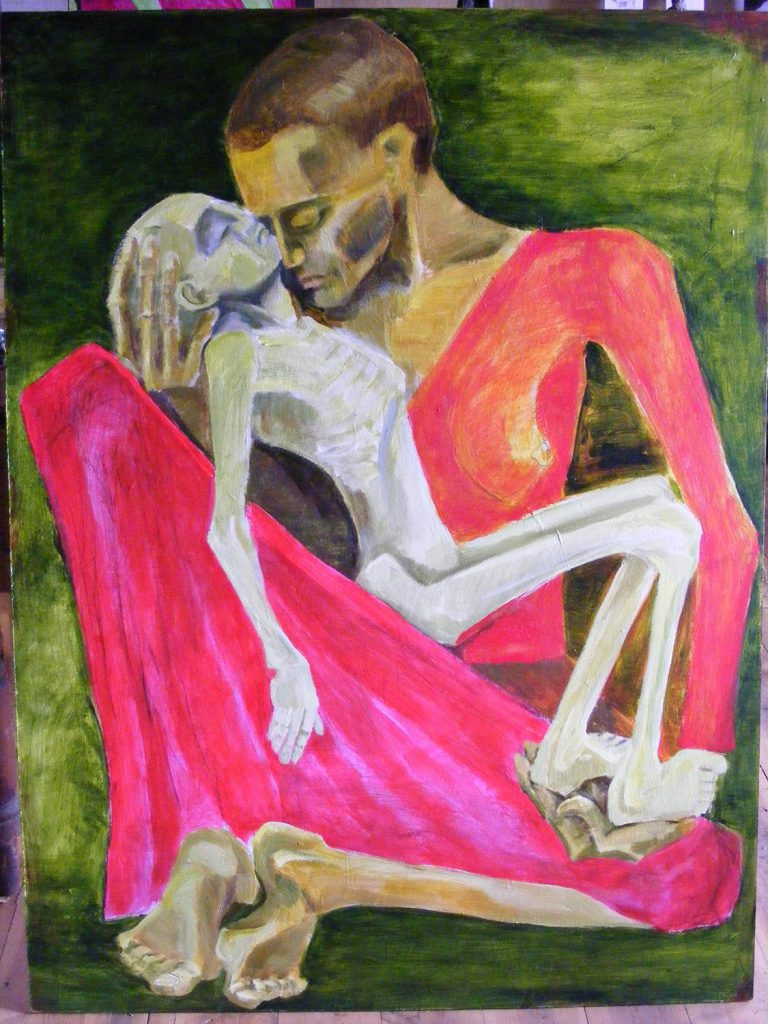 Death of the Mother Painting by Greta Berlin