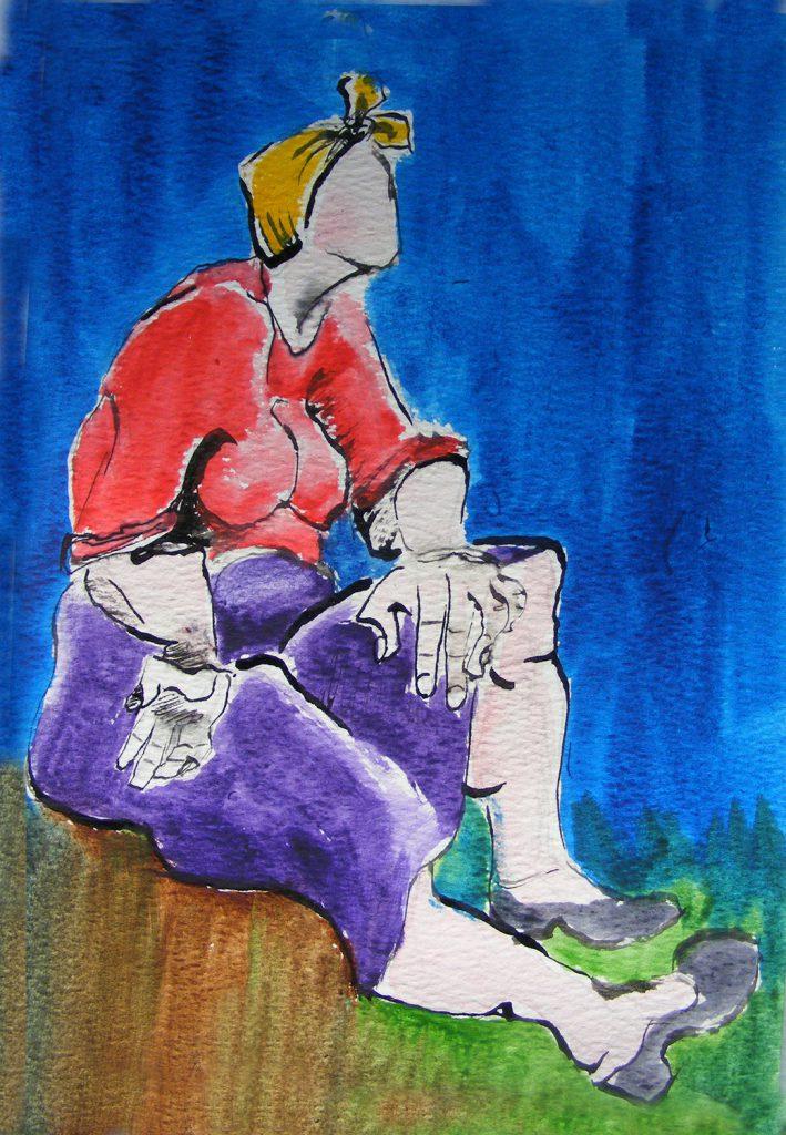 Factory Woman Painting Greta Berlin