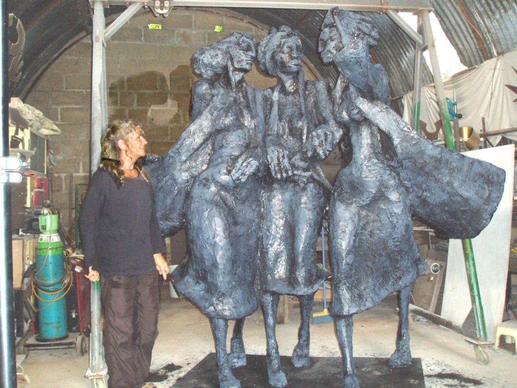 Factory Woman Sculpture by Greta Berlin