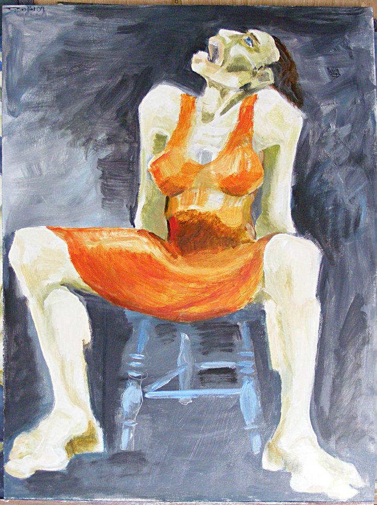 Falling Painting Greta Berlin