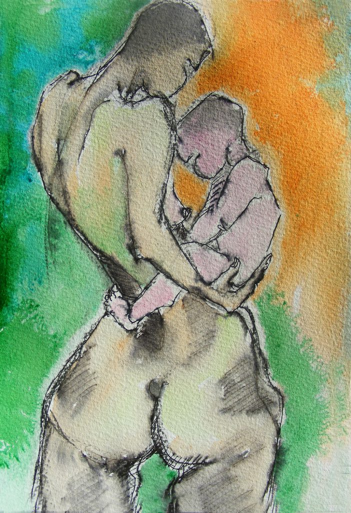 Mother & Child Painting by Greta Berlin