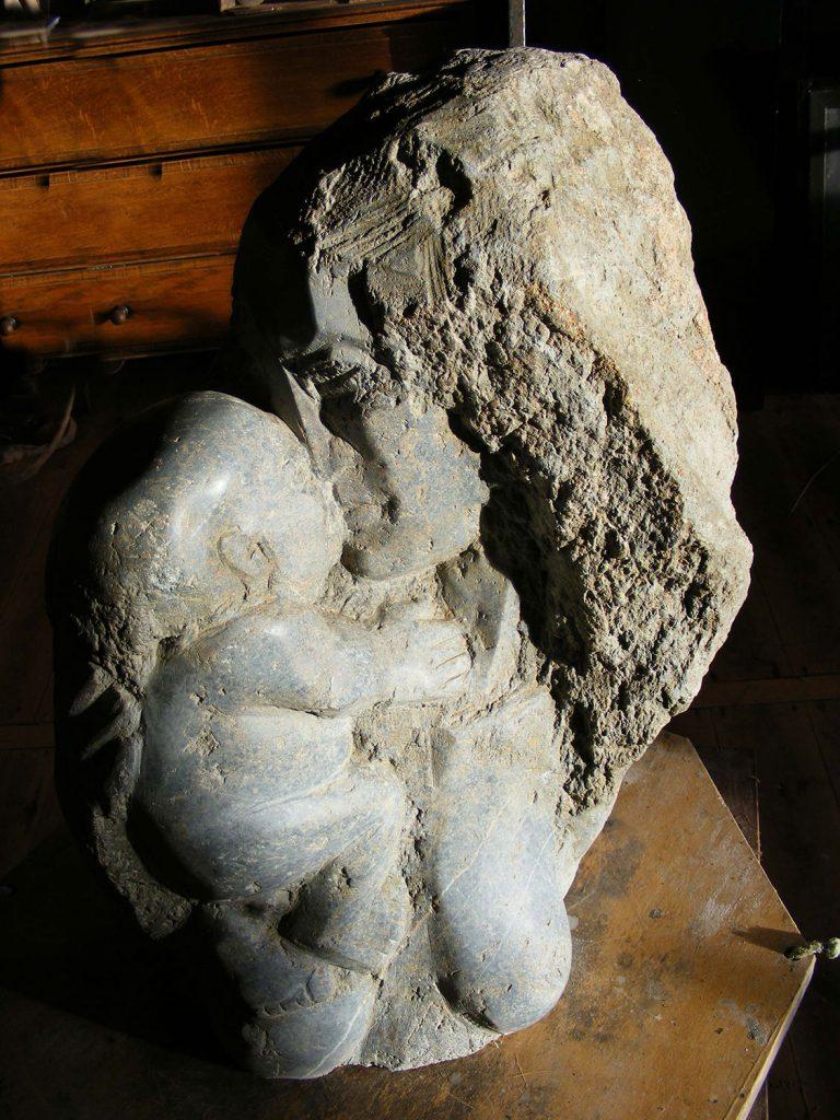 Mother Child Stone Small Sculpture Greta Berlin