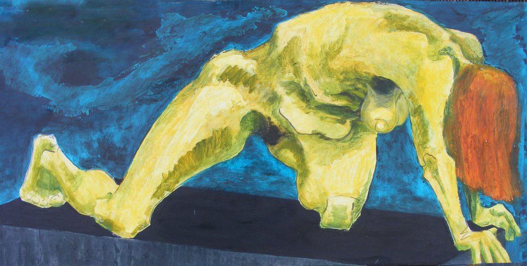 Orange Hair Painting by Greta Berlin