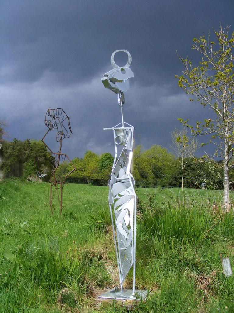 Ox Woman Sculpture by Greta Berlin