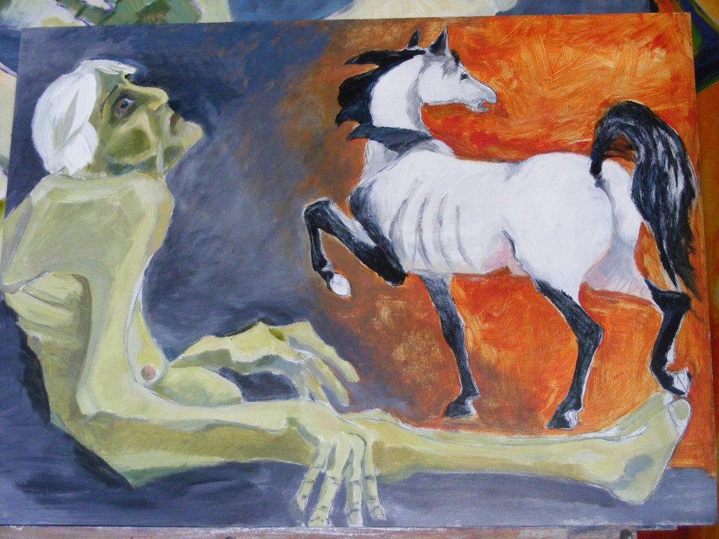 Tempus Fugit Painting by Greta Berlin