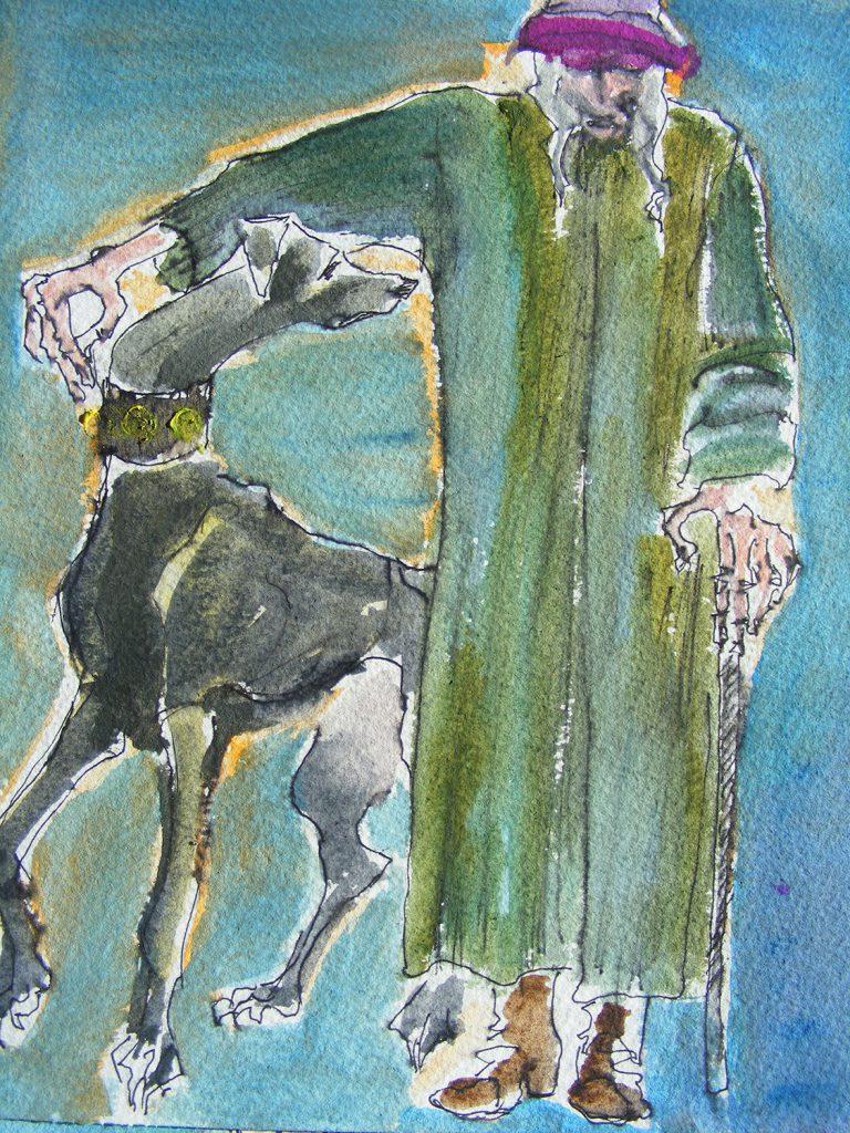 The Walk Painting by Greta Berlin
