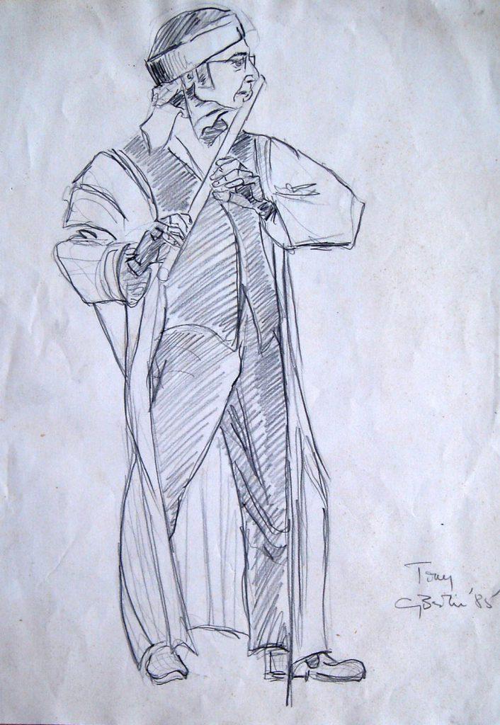 Tone Flute Drawing by Greta Berlin