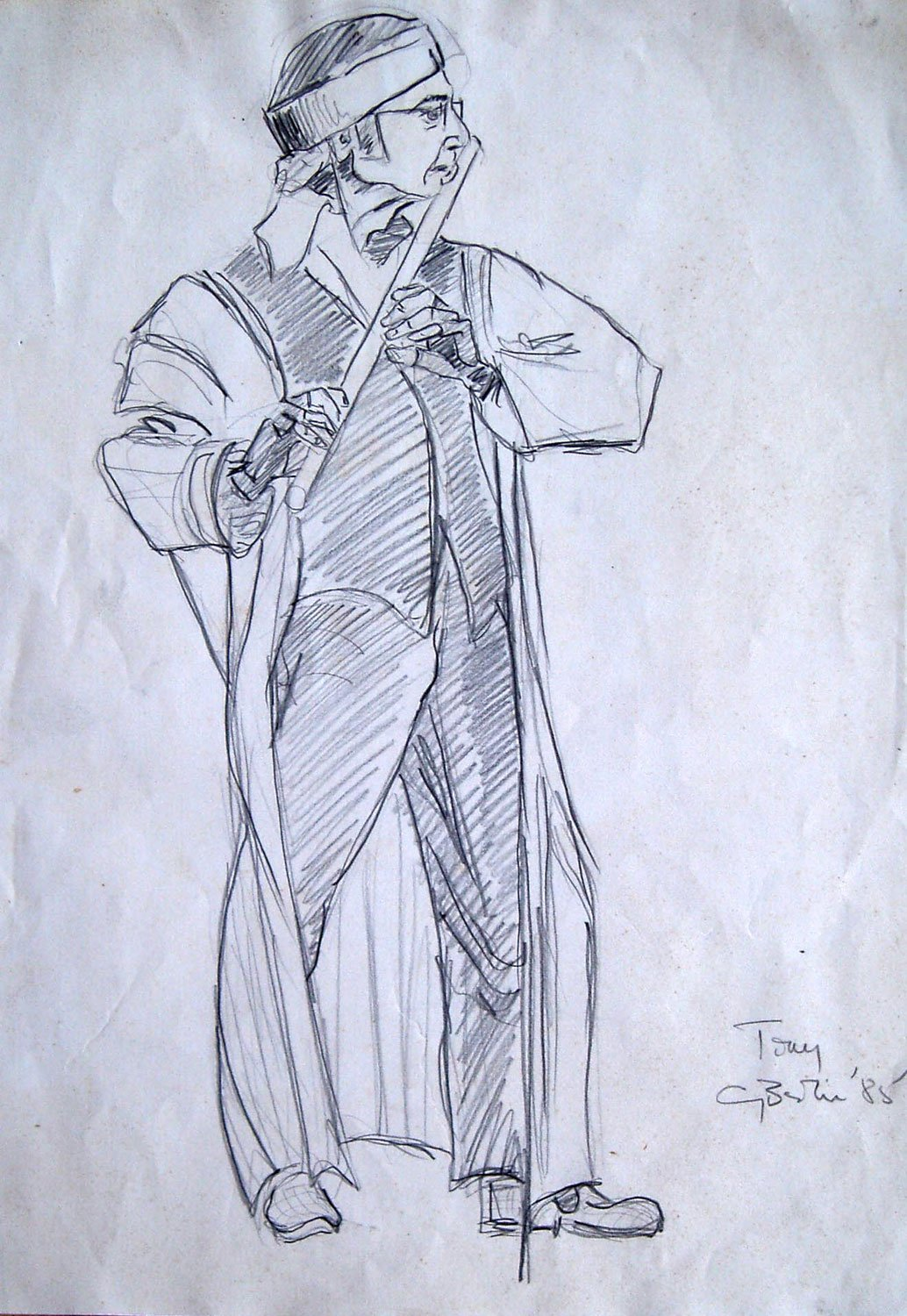 Tone Flute Drawing by Greta Berlin