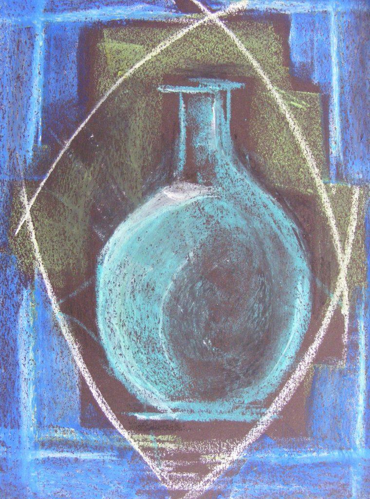 Blue Vase Drawing