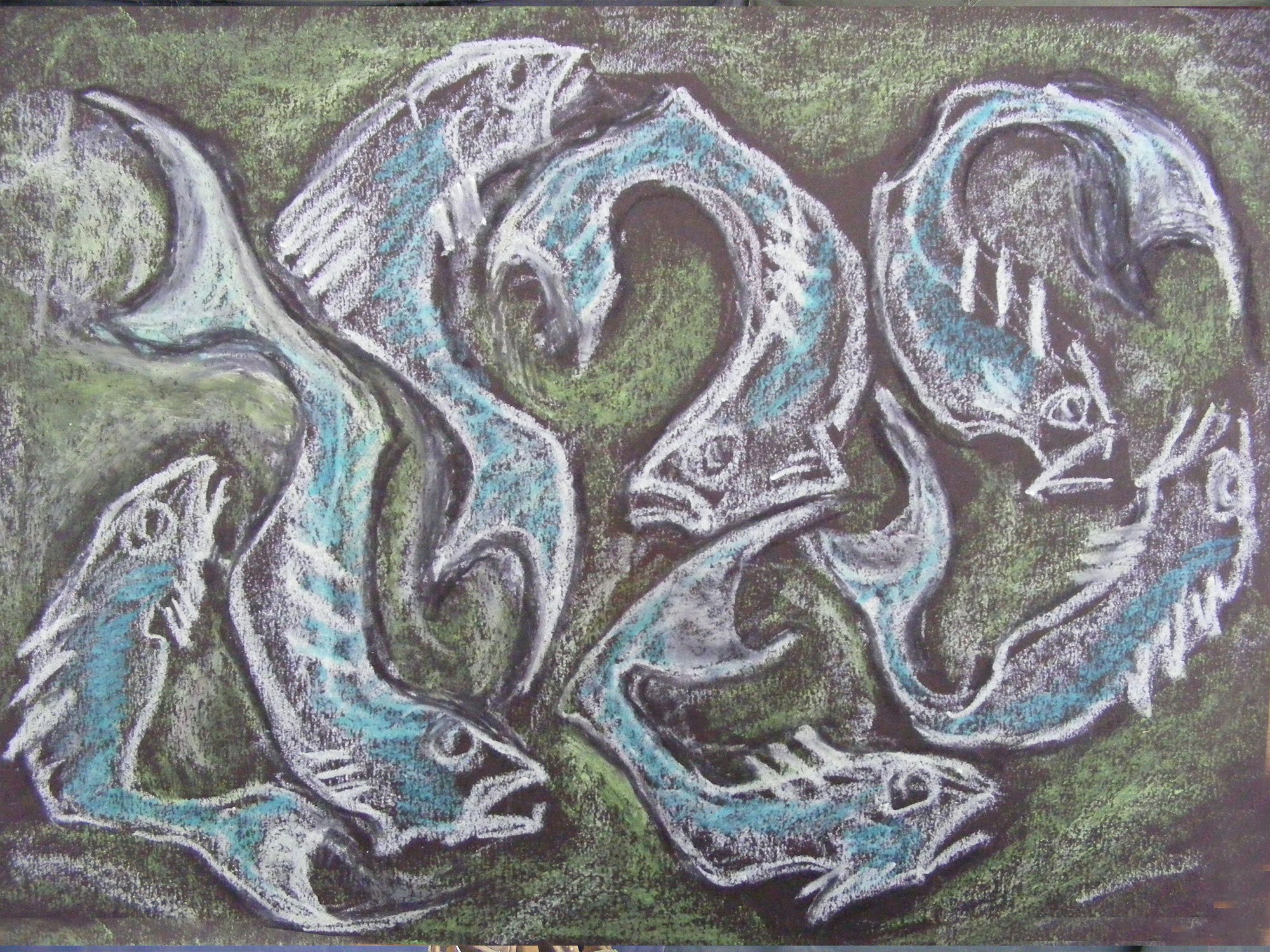 Shoal Fish Drawing