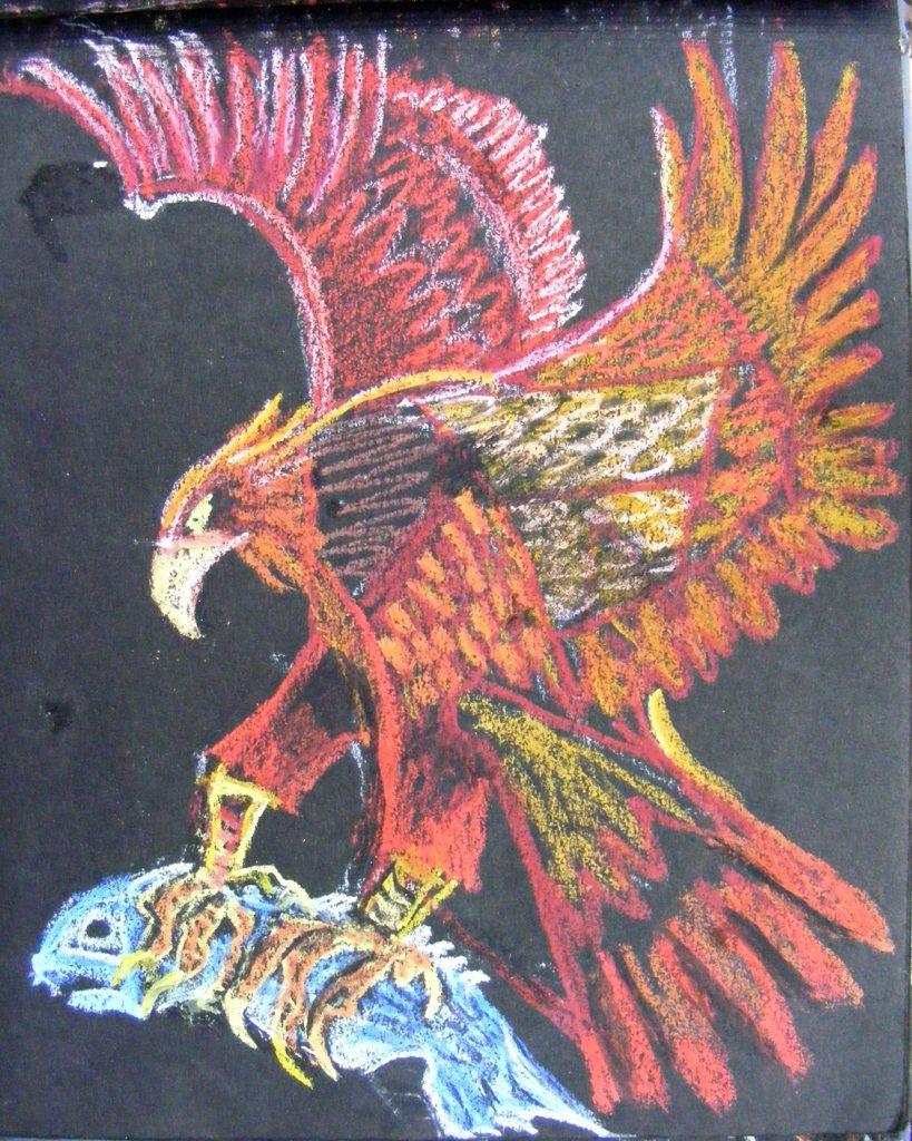 Fish Eagle Drawing