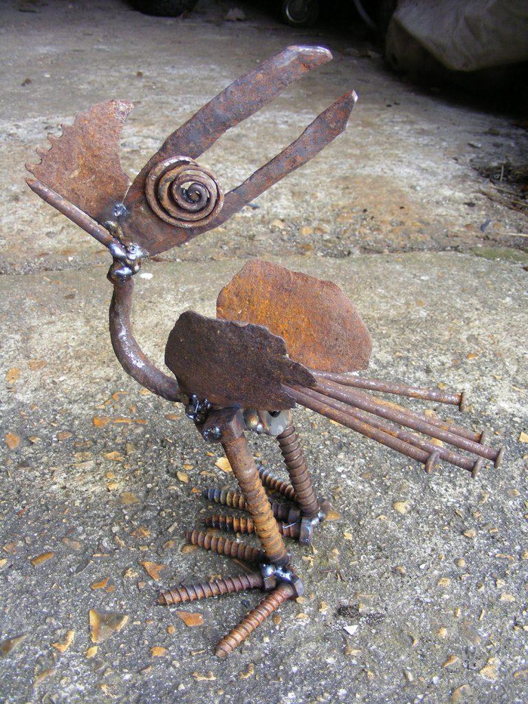 Spiral Eye Steel Sculpture