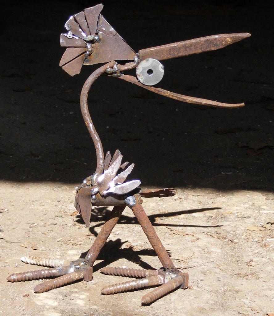 What Me Steel Sculpture